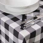 Texas Rich Black Gingham Tablecloths