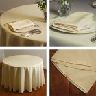 Ivory square, rectangular & round tablecloths