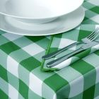 Vermont Green Gingham Tablecloths