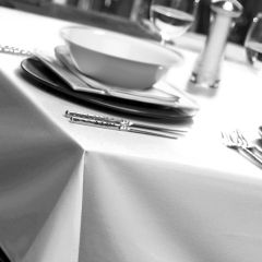 White Natural Weave Tablecloths