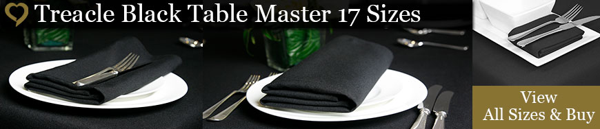 Treacle Black Table Master Tablecloths