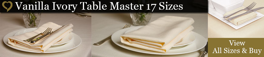 Vanilla Ivory Table Master Tablecloths