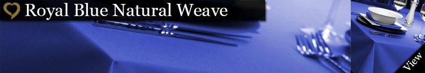 Royal Blue Natural Weave Tablecloths