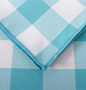 Light Blue Gingham Overlock Hem